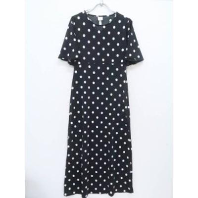 H&M(エイチ&エム)マキシドットワンピース 五分袖 黒/白 レディース 新品 S/P