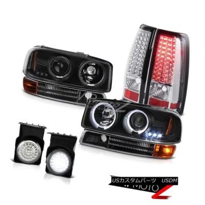 ヘッドライト 2003年シエラSLT DRL LEDエンジェルアイヘッドライトパーキングブレーキテールライトバンパーフォグ 2003 Sierra S