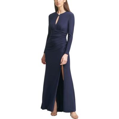ヴィンス カムート Vince Camuto レディース パーティードレス ワンピース・ドレス Keyhole-Cutout Gown Navy Blue