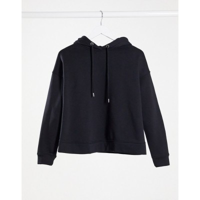 リンデックス Lindex レディース パーカー トップス MOM Taylor brushed cotton lounge hoodie in black ブラック