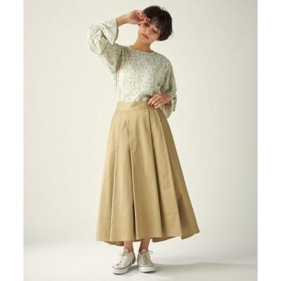 スカート 《musee》コットンツイルフレアスカート