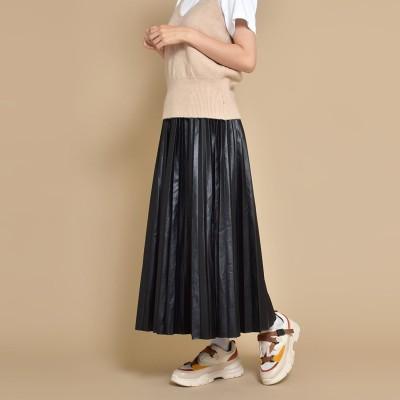 シュベック SVEC プリーツスカート (ブラック)
