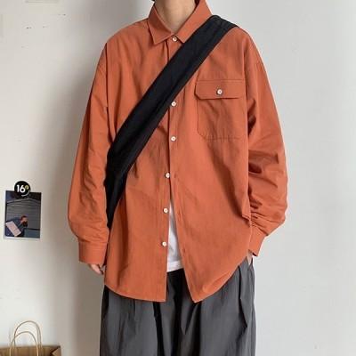 スリムフィット シャツ オックスフォードシャツ コットン カジュアル シャツジャケット ベーシック 綿 長袖 無地 春 秋 冬 大人 メンズ