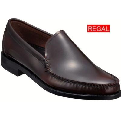 リーガル REGAL 靴 メンズ ビジネスシューズ 43VR BD ヴァンプ 革底 ダークブラウン アンチーク仕上げ