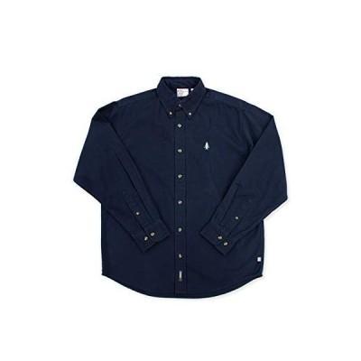 [WOODS] ボタンダウンシャツ メンズ レディース (M, ネイビー)