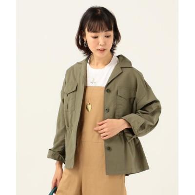 SHIPS for women/シップスウィメン SHIPS any:ドロストワークジャケット オリーブ 38