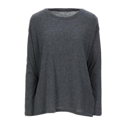 MAJESTIC FILATURES Tシャツ  レディースファッション  トップス  Tシャツ、カットソー  半袖 スチールグレー