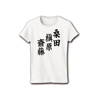 桑田 槙原 斎藤 リブクルーネックTシャツ(ホワイト)