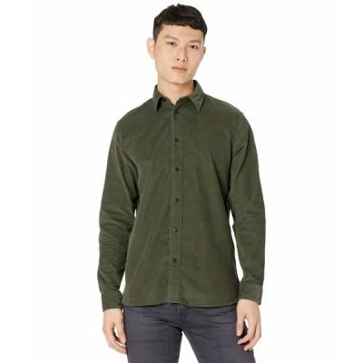 セレクテッドオム シャツ トップス メンズ Henley-Cord Shirt Deep Forest