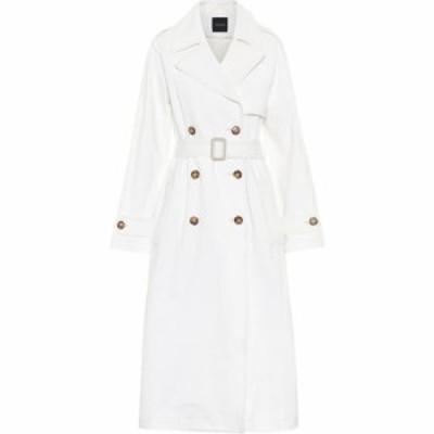ゴールドサイン Goldsign レディース トレンチコート アウター The Classic denim trench coat Ghoste White