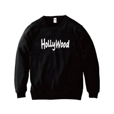 Holly Wood ハリウッド WOLLY WOOD パロディトレーナー おもしろトレーナー クルーネック 丸首 綿100% 100 110 120 130 140 150 WM S M L XL 2XL