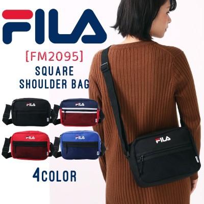 FILA ショルダーバッグ バッグ ショルダー 男女兼用 メンズ レディース フィラ メッシュ A5 黒 ブラック 赤 青 小さめ ミニ コンパクト 軽量 シンプル ユニセックス fm2095 メール