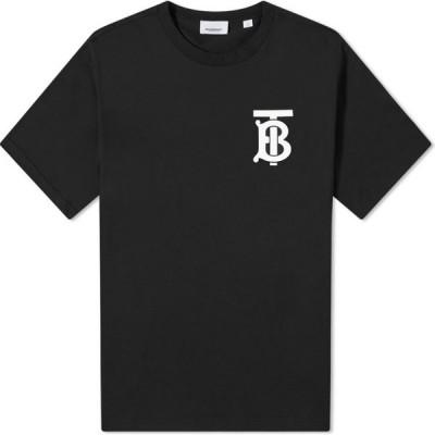 バーバリー Burberry メンズ Tシャツ ロゴTシャツ トップス emerson tb logo oversized tee Black