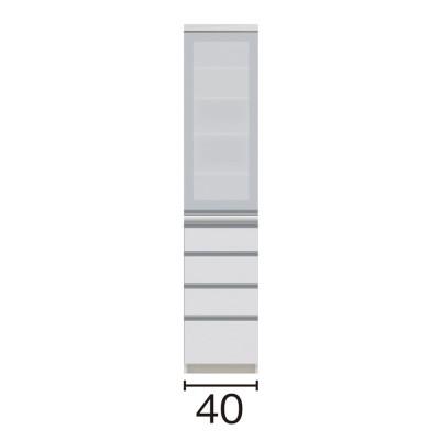 サイズが豊富な高機能シリーズ 食器棚引き出し 幅40奥行45高さ187cm/パモウナ JZ-S400KL JZ-S400KR ミギヒラキ