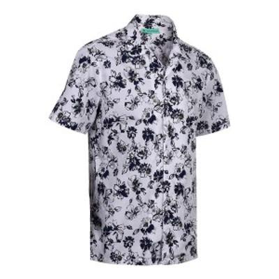 ミオマリオ メンズ シャツ トップス Men's Hawaiian Print Cotton Dress Shirts Olive