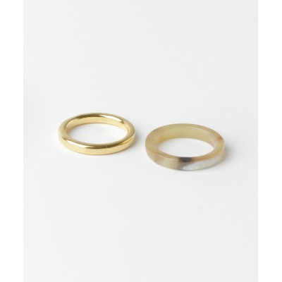 URBAN RESEARCH Sonny Label / on the sunny side Horn Double Ring MEN アクセサリー > リング