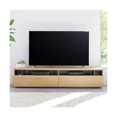 白井産業 大型 テレビ 台 50 から 60インチ対応 【2梱包】 ラモリア RAM-4018H NA ナチュラルブラウン 幅180cm