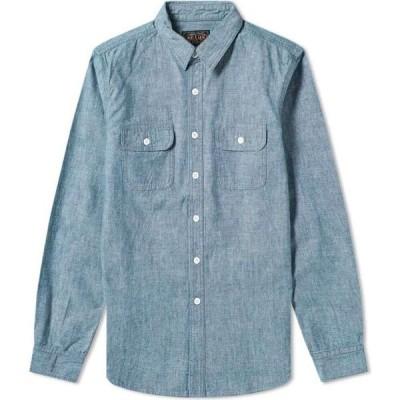 ビームス プラス Beams Plus メンズ シャツ シャンブレーシャツ トップス Chambray Work Shirt Blue Chambray