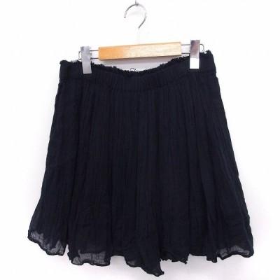【中古】メドモワゼル パリ MES DEMOISELLES PARIS スカート ギャザー ミニ 無地 シンプル 綿 38 ブラック 黒 /FT38 レディース 【ベクトル 古着】