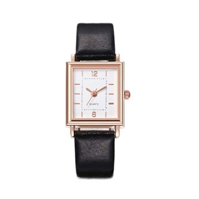 Auwer Watch for Women, Lady Stylish Square Watch with Leather Strap【並行輸入品】