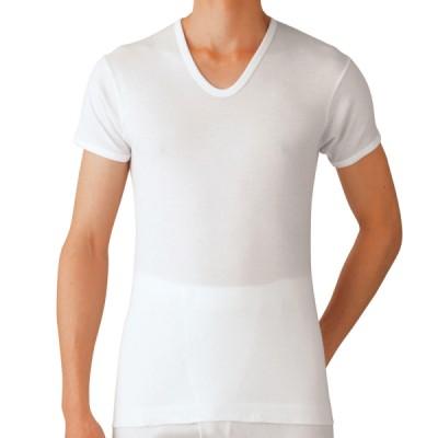 5枚セット GQ-1 やわらか抗菌防臭 半袖U首Tシャツ Mサイズ Lサイズ グンゼ GUNZE 綿100%[GQ0516-SET](ホワイト×M)