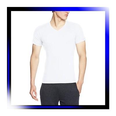 サイズ Newホワイト ボディワイルド Tシャツ リブ Vネック メン