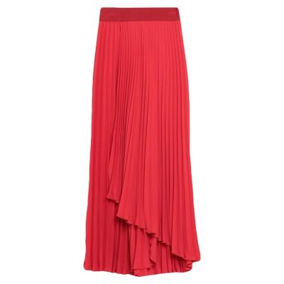メルシー ..,MERCI 7分丈スカート レッド L ポリエステル 100% 7分丈スカート