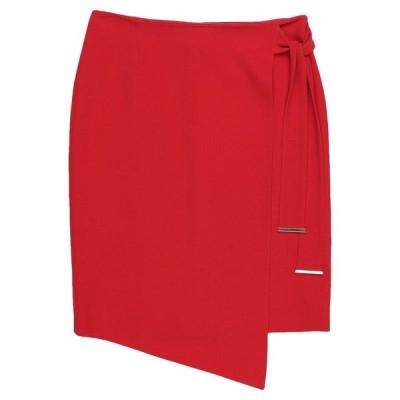 GIORGIO GRATI ひざ丈スカート  レディースファッション  ボトムス  スカート  ロング、マキシ丈スカート レッド