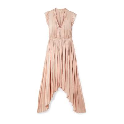 ULLA JOHNSON ロングワンピース&ドレス ピンク 10 ポリエステル 100% ロングワンピース&ドレス
