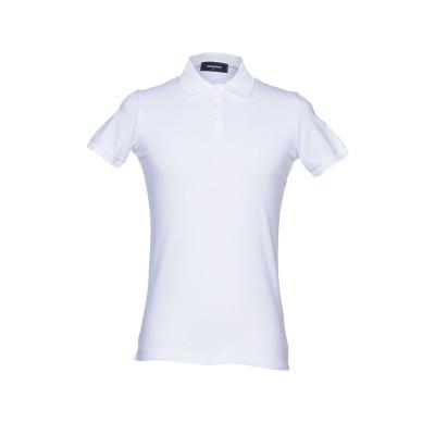 ディースクエアード DSQUARED2 ポロシャツ ホワイト M コットン 100% ポロシャツ