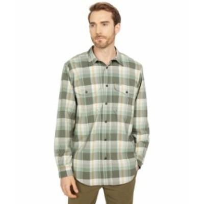 フィルソン メンズ シャツ トップス Twin Lakes Sport Shirt Olive/White/Gol
