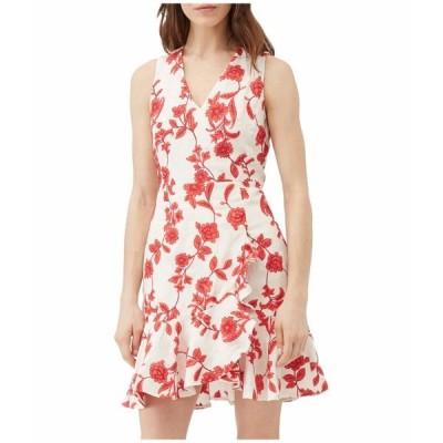 レベッカテイラー ワンピース トップス レディース Sleeveless Scarlet Wrap Dress Ivory/Red Coral