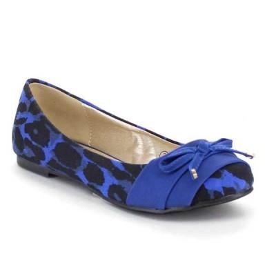 オックスフォード フラット シューズ 靴 ベストon Hot Sale AA62 レディース レオパード スリッポン Bow Low ヒール Comfort Ballet フラットs BLUE BLACK