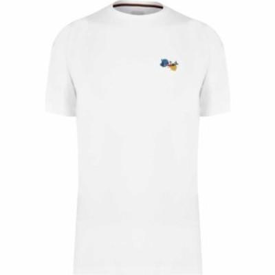 ポールスミス Paul Smith メンズ Tシャツ トップス Paint Splatter T Shirt White
