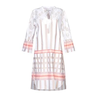 LE SARTE PETTEGOLE ミニワンピース&ドレス ホワイト 40 コットン 100% ミニワンピース&ドレス