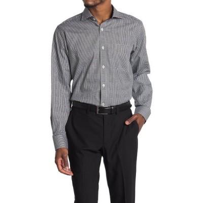 ブガッチ メンズ シャツ トップス Gingham Print Classic Fit Shirt BLACK