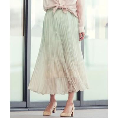 Ketty Cherie/ケティ シェリー 【雑誌掲載】グラデーションプリーツスカート グリーン S