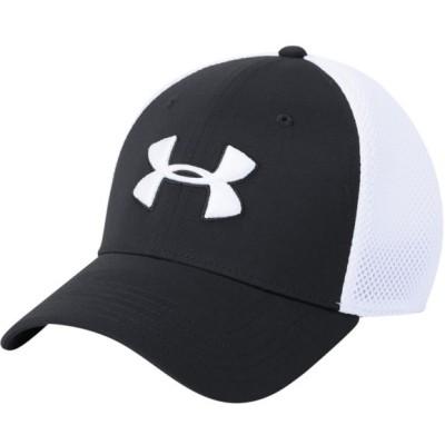 アンダーアーマー 帽子 メンズ アクセサリー TB Classic Mesh Golf Cap Black/White/White