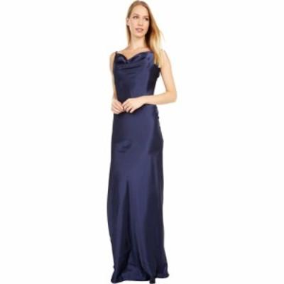ベベ Bebe レディース パーティードレス ワンピース・ドレス Solid Charmeuse Gown Navy