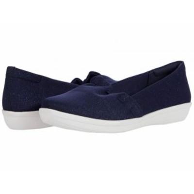 Clarks クラークス レディース 女性用 シューズ 靴 スニーカー 運動靴 Ayla Shine Navy Sparkle Textile【送料無料】