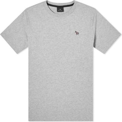 ポールスミス Paul Smith メンズ Tシャツ ロゴTシャツ トップス zebra logo tee Grey Marl