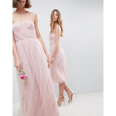 エイソス レディース ワンピース トップス ASOS DESIGN bridesmaid bandeau tulle maxi dress