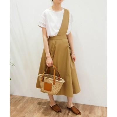 スカート 【Arumlily】コットンツイルスカート
