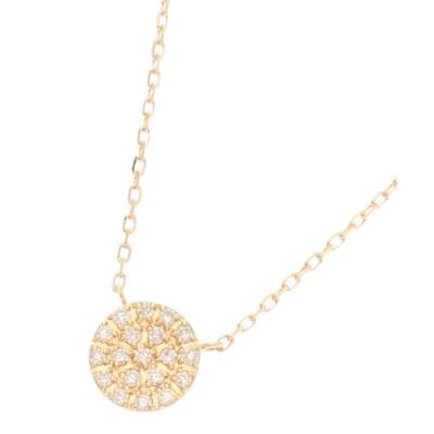 COCOSHNIK(ココシュニック) K18ダイヤモンド ラウンドパヴェ ネックレス(小)