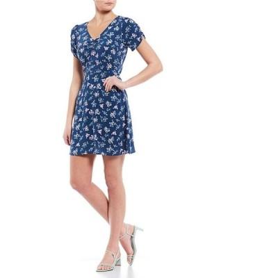 カッパーキー レディース ワンピース トップス Floral Short Sleeve Skater Dress
