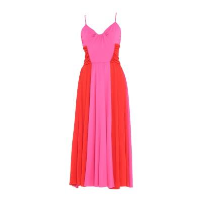 エムエスジーエム MSGM ロングワンピース&ドレス フューシャ 40 レーヨン 100% ロングワンピース&ドレス