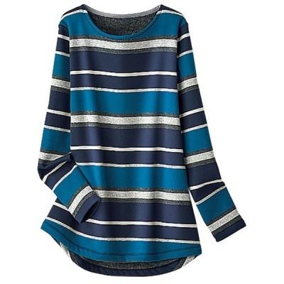 tシャツ Tシャツ ふわふわ裏ファー素材ロングプルオーバー