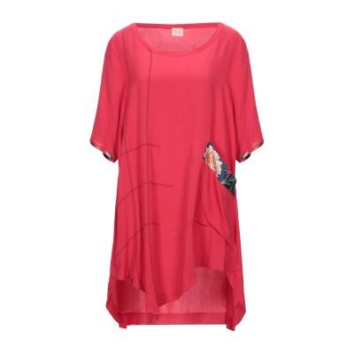 F & EMME ミニワンピース&ドレス レッド L レーヨン 100% / ポリエステル ミニワンピース&ドレス