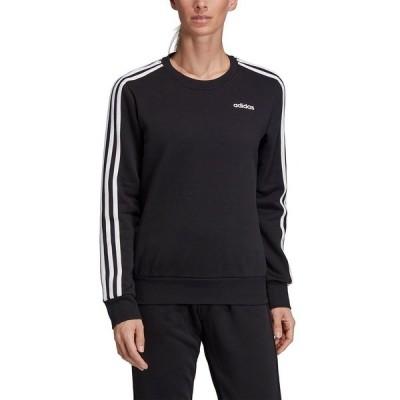 アディダス パーカー・スウェットシャツ アウター レディース Women's Essentials 3-Stripe Fleece Sweatshirt Black/white