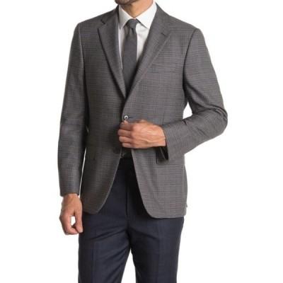 ヒッキーフリーマン メンズ ジャケット&ブルゾン アウター Gray Tweed Two Button Peak Collar Jacket GREY